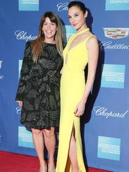 Patty Jenkins and Gal Gadot arrive at the Palm Springs