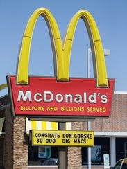 The McDonald's sign at the Military Road restaurant