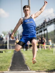 On day one of the 2108 SVC Track and Field Championships,