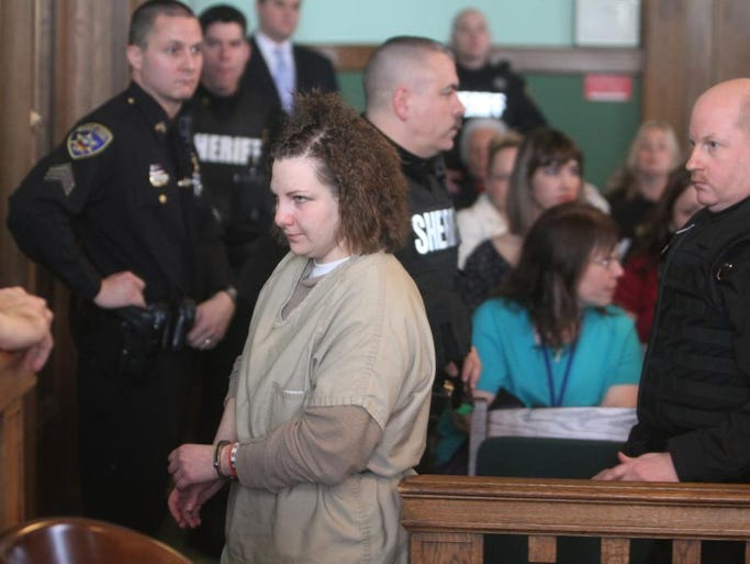 Rose Chase leaves court after her sentencing at Ontario County Court on Jan. 15.