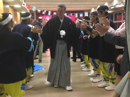 Warren Gubler, Visalia's vice-mayor, spent time in Japan to meet with leaders in Miki, Visalia's ciy sister.