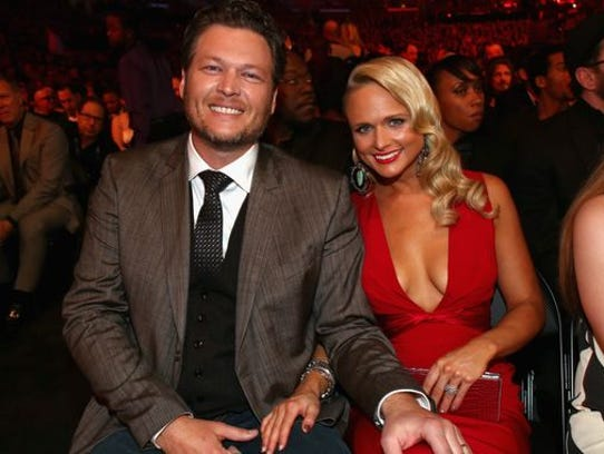 Blake Shelton and Miranda Lambert in January 2014.