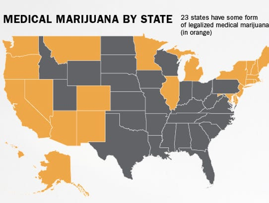 Twenty-three states have some form of legalized medical