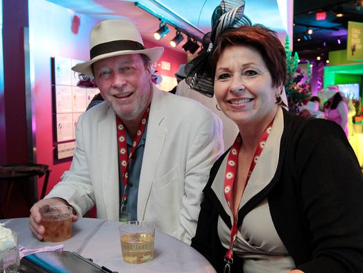 Jim and Brenda Currie attend the inaugural Fillies & Lilies Party on Friday evening at the Kentucky Derby Museum at Churchill Downs. May 2, 2014.