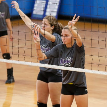 Horace Greeley High School hosts a Five-team volleyball