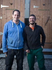 Torsten Much, left, and Marc Haueter in Kreuzlingen,