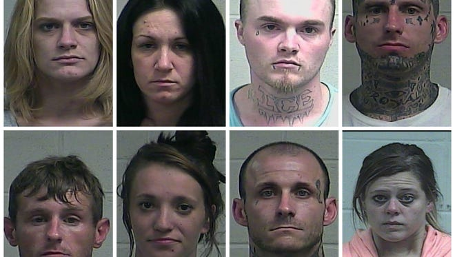 Top, L-R: Ashley Goodson, Echo Funderburk, Michael Lewis, Jared Cook. Bottom, L-R: Perry Bolton, Emily Summers, Travis Williams, Sarah Roberson.
