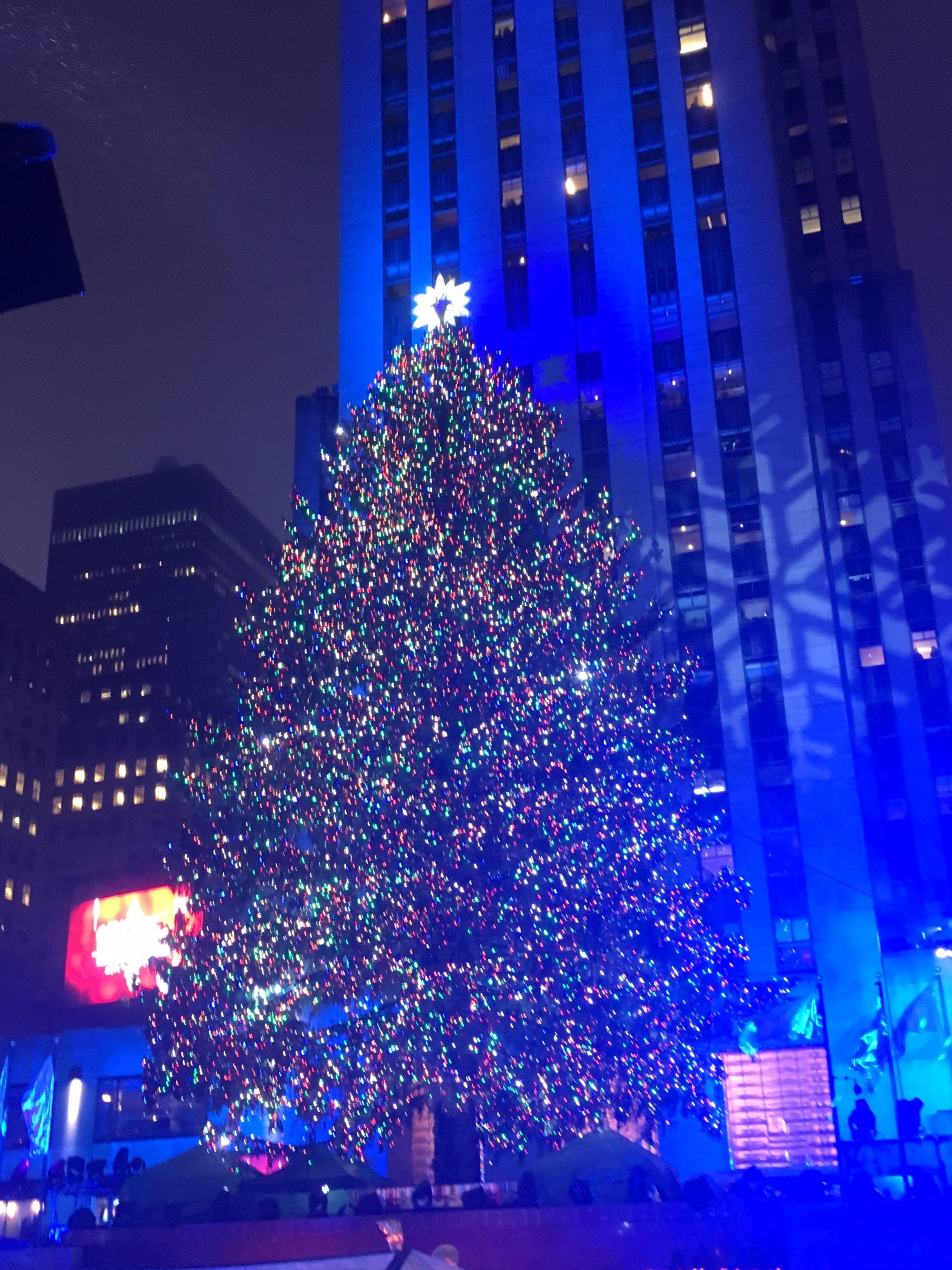 The Rockefeller Center Christmas Tree Lights Up