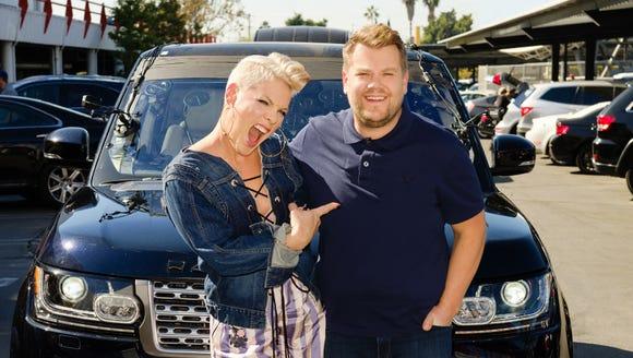 Pink hits the 'Carpool' lane with James Corden.