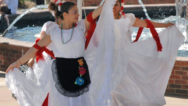 Mexican dancers entertain the crowd at the 2015 Greer International Festival.
