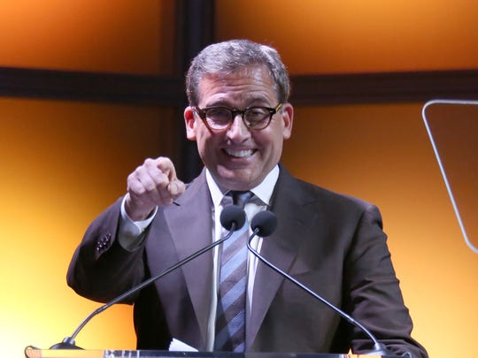 Steve Carell speaks onstage at the USC Shoah Foundation