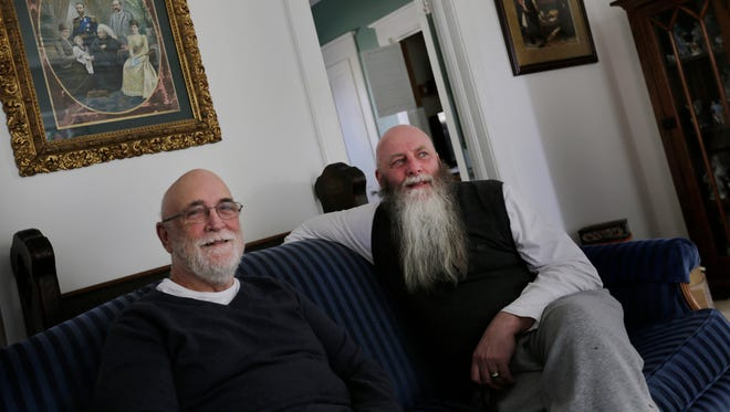 Anthony Shakeshaft, left and Thomas Toon at their home in Ann Arbor on Friday, March 20, 2015.