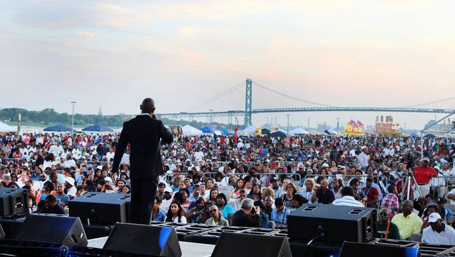 Kem performs at West Riverfront Park in August. His Mack & Third festival was the first music event held at the new riverside site.