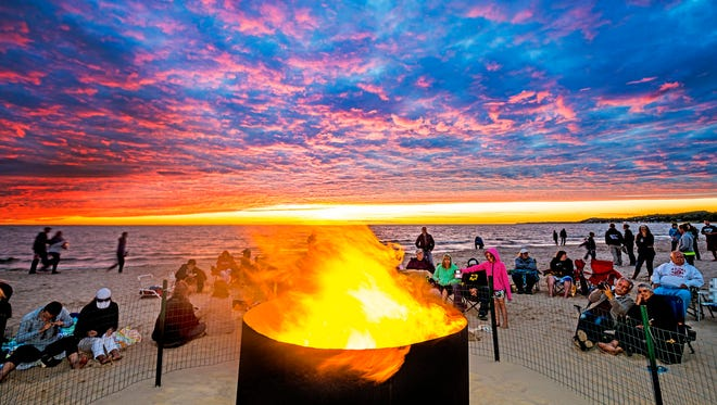 A series of bonfires will light up the night sky at Stearns Beach in Ludington this year, starting June 25.