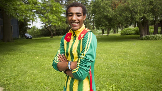 Wubetu Shimelash poses for a photo at Scattergood in West Branch on June 5, 2015. Shimelash will spend the summer in Ethiopia this year and hopes to teach others some of what he learned, and encourage others to travel and study in the United States.