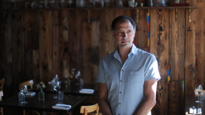 Antietam owner Gregory Holm, during the Detroit Free Press' Top 10 Takeover dinner series at the Antietam in Eastern Market, Detroit on Monday, July 13, 2015.