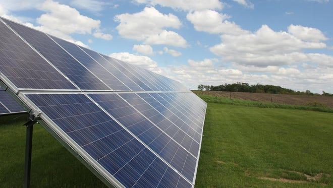 Installed solar panels.