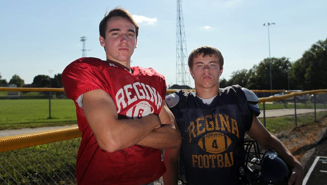 Regina's Nathan Stenger, left, and Nick Phillips pose for a photo on Wednesday, Aug. 12, 2015.