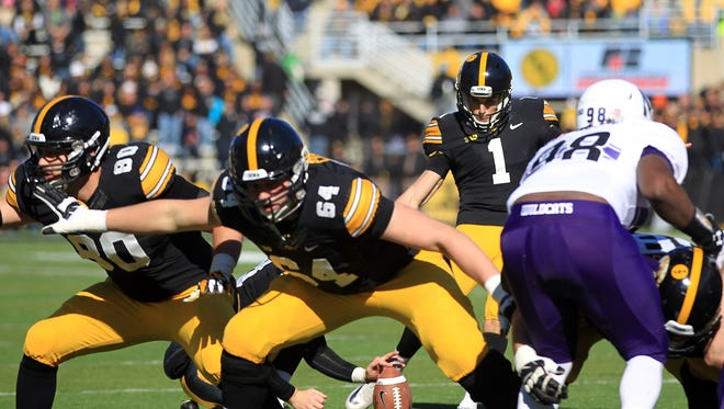 Iowa placekicker Marshall Koehn could add punting to his workload in 2015.