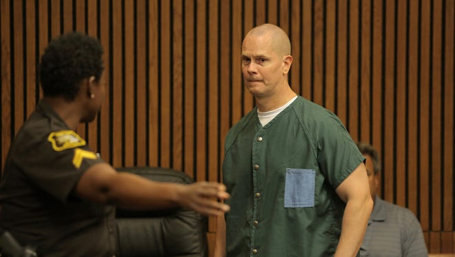 Richard Wershe Jr. enters the courtroom of Wayne County Circuit Judge Dana Hathaway at the Frank Murphy Hall of Justice in Detroit on Friday, Sept. 4, 2015.