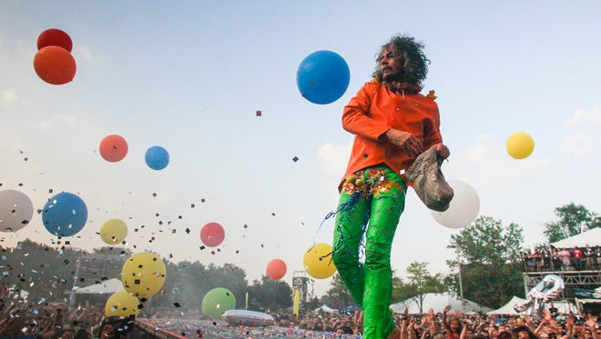 The Flaming Lips will headline the SoundHarvest Music Festival on Saturday.