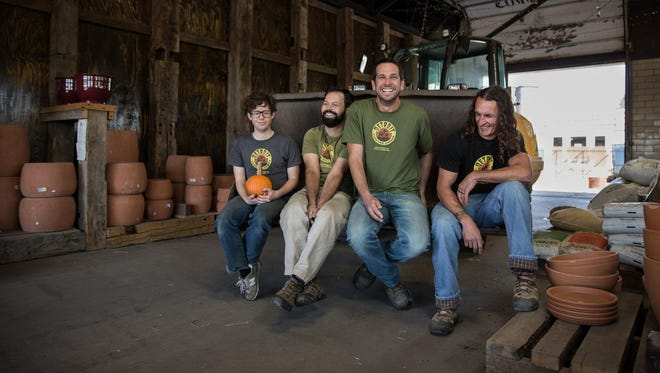 Detroit Farm and Garden in Detroit: From left are, Brian Allnutt, Zack Finn, Jeff Klein and Andy Ray. The New Economy Initiative (NEI) launched a contest, dubbed NEIdeas, to award grants of $10,000 each to 30 small businesses.