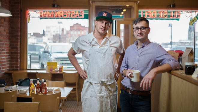Russell Street Deli, now more than 25 years old, is owned by partners Ben Hall and Jason Murphy, who started as dishwashers at the restaurant in the 1990s before eventually buying out the previous owner.