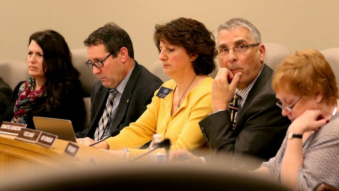 A House Committee on Business and Labor meeting for Senate Bill 1532 A which would establish a tiered system of minimum wage rates based on an employer's location. Photographed at the Oregon State Capitol in Salem on Monday, Feb. 15, 2016.