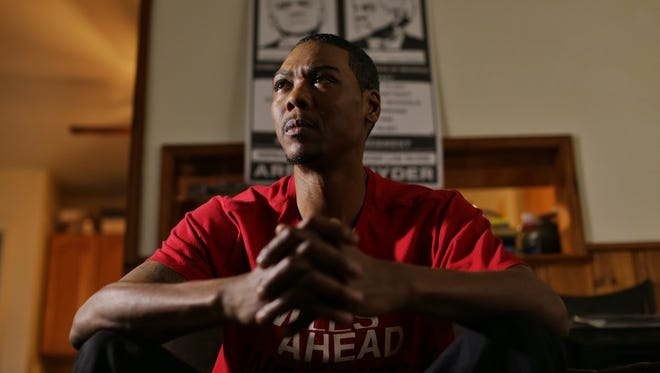 """Aaron Stinson, 39, of Flint thought he was just tired or working too hard. The lead poisoning diagnosis stunned him. """"I'm still trying to wrap my brain around it."""" In adults, poisoning can cause brain swelling and death."""