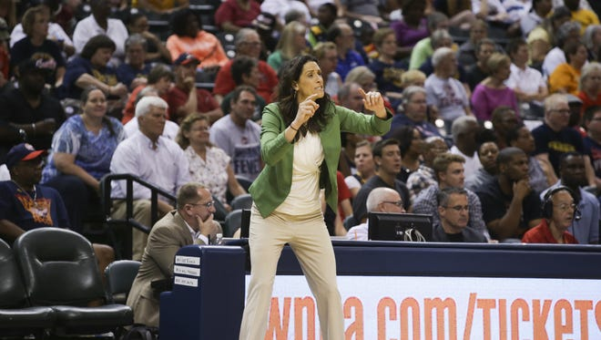 Fever coach Stephanie White, shown here during a game against the Los Angeles Sparks in July, was disappointed in her team's effort in its first game back from the Olympic break.