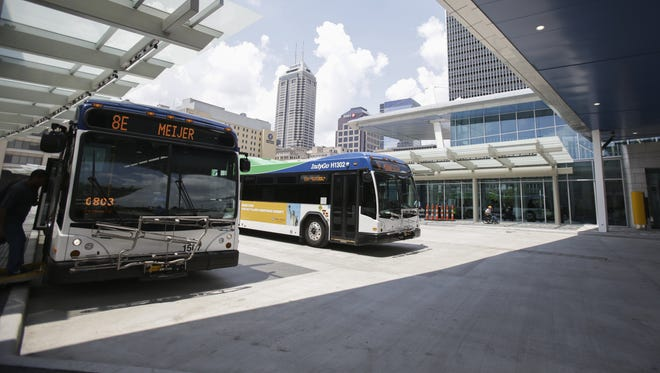 Pavers at the Downtown Indianapolis transit center were improperly installed and will have to be replaced, according to Marion County's transit agency, IndyGo.