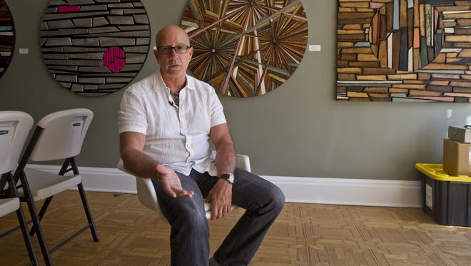 Pat Schiavino, founder of the Asbury Underground event, sits back in his gallery, Art629, in 2015.