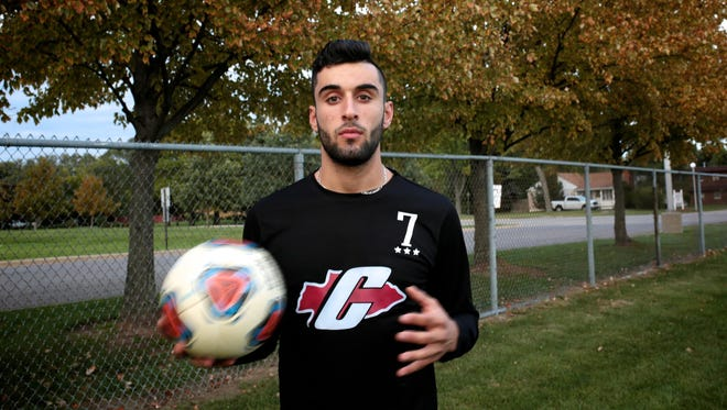 """Canton's Mohamad Miri works on thinking the game before playing it. """"It takes that right moment,"""" he said. """"Once you get in that right moment, you'll score that goal."""""""
