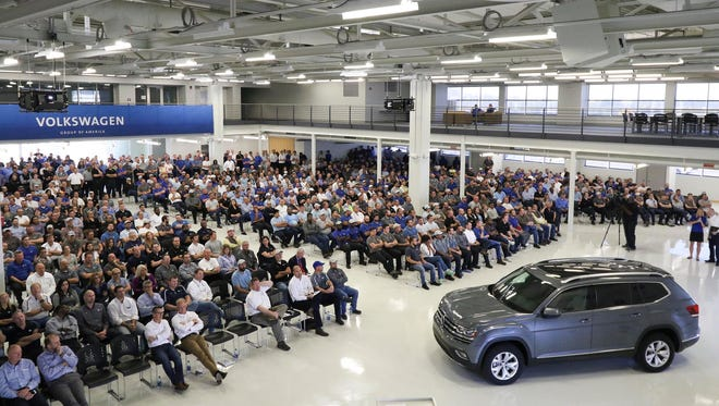 Volkswagen unveils a new vehicle in Chattanooga in 2016. Three years earlier the state offered VW about $300 million in grants and tax credits as part of an expansion plan.