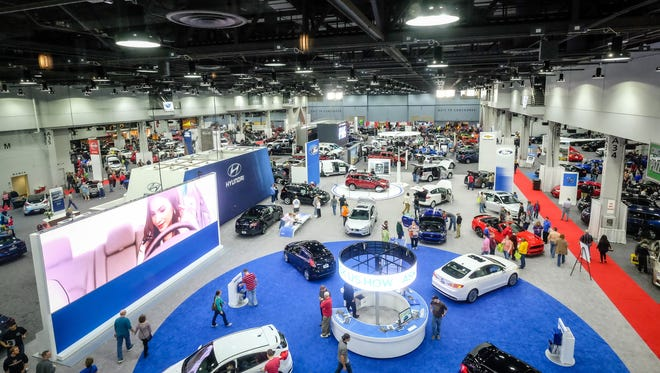 Pictured is a look at the floor during the 2016 Cincinnati Auto Expo at Duke Energy Convention Center.