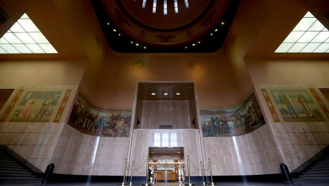 The rotunda at the Oregon State Capitol in Salem on Thursday, Jan. 26, 2017.