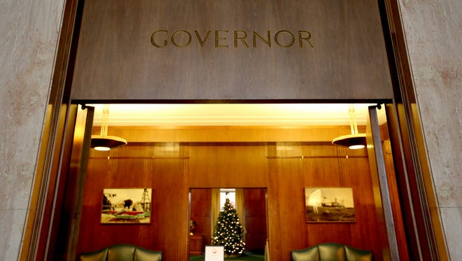 The ceremonial office of the governor at the Oregon State Capitol. Photographed in Salem on Monday, Nov. 30, 2015.