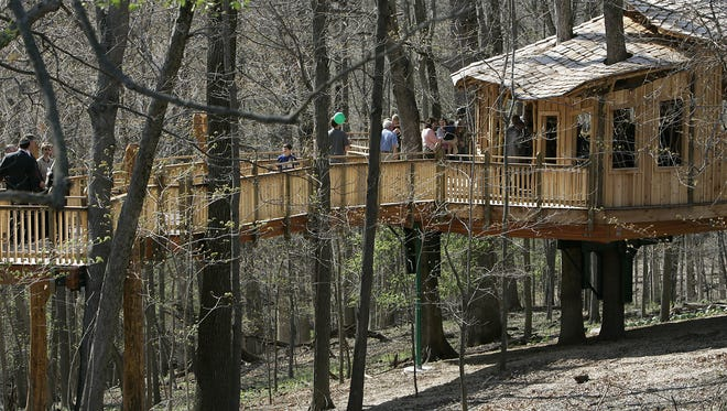 A new Cincinnati Parks director will lead a department that include Mount Airy Forest and its treehouse, shown here at its dedication in 2007.