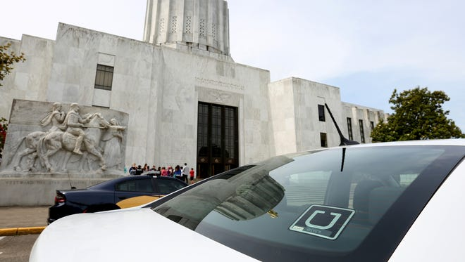 Uber is now available in Salem. Photographed at the Oregon State Capitol in Salem on Wednesday, June 7, 2017.