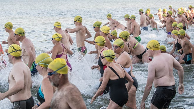Each summer, for more than 90 years, swimmers have jumped into the water for the annual Goguac Lake Swim.