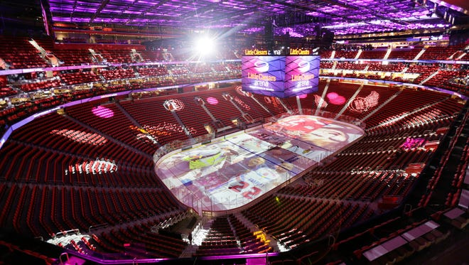 A view of the inside of Little Caesars Arena in Detroit on Wednesday, Sept. 6, 2017.