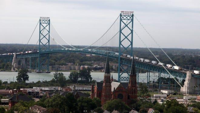 The Ambassador Bridge is one of the busiest border crossings in North America.