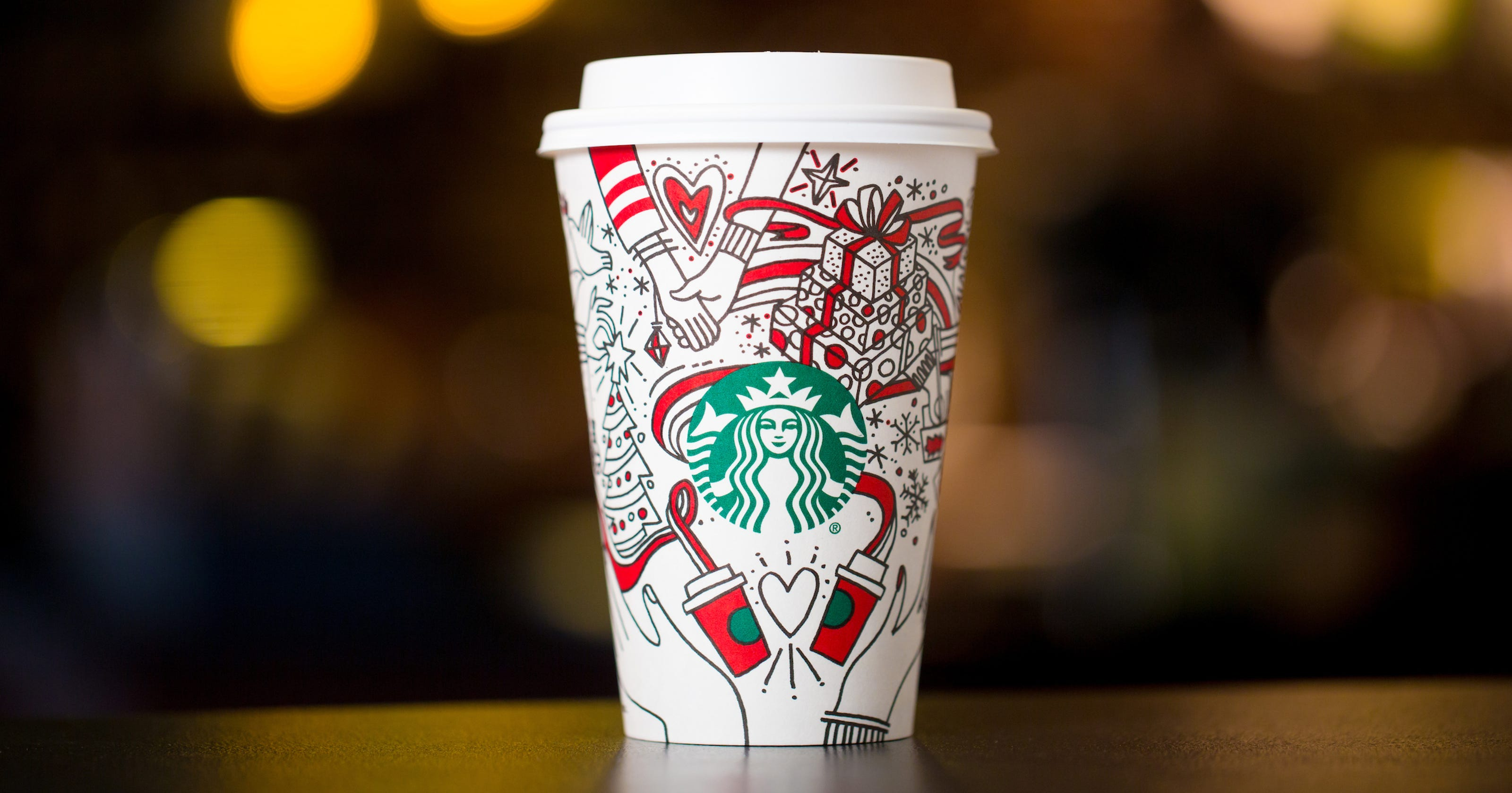 starbucks holiday cup comes with a message give good