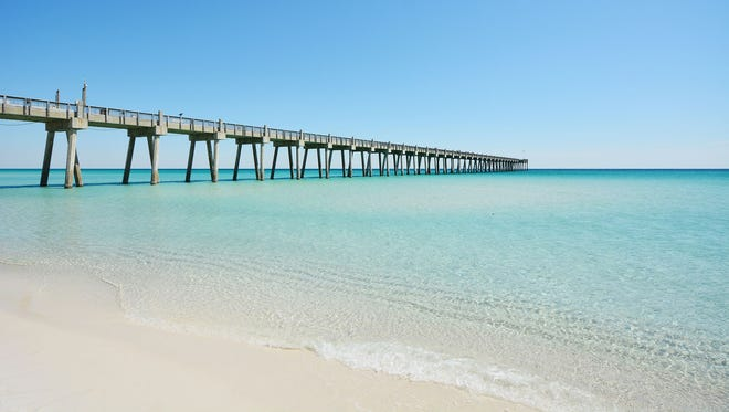 The Pensacola Beach pier is great for fishing and sight seeing.