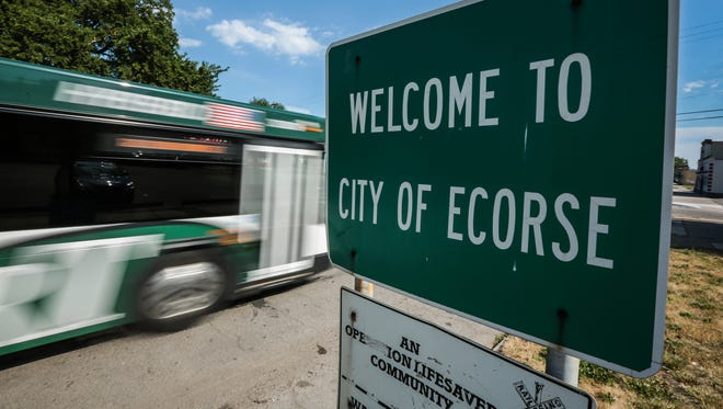 City of Ecorse sign is seen on Monday, June 30, 2016, in Ecorse.