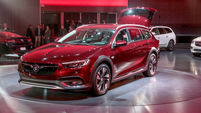 The 2018 Buick Regal TourX during the reveal in April 2017 at the General Motors Design Dome in Warren.