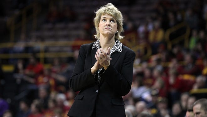 Iowa coach Lisa Bluder and the Hawkeyes seek their 13th consecutive victory over Drake. Bluder led the Bulldogs for 10 seasons before taking over at Iowa.