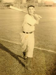 Chug Floro, a 1946 Mansfield Senior graduate, as a player in the Chicago Cubs minor league system.