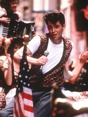 """Matthew Broderick appears from a scene from """"Ferris Bueller's Day Off."""""""