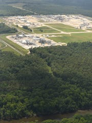 Aerial view of Fayetteville works on Wednesday June